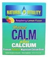 Natural Vitality - Natural Calm Sports Plus Calcium Organic Raspberry-Lemon Flavor - 30 Packet(s), from category: Vitamins & Minerals