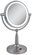 Image of Zadro - LED Lighted 5X Vanity Mirror LEDV45 Satin Nickel
