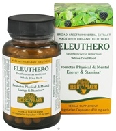 Herb Pharm - Eleuthero 410 mg. - 60 Vegetarian Capsules by Herb Pharm