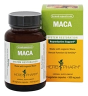 Herb Pharm - Maca 500 mg. - 60 Vegetarian Capsules, from category: Herbs