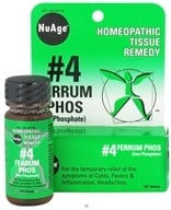 NuAge - #4 Ferrum Phosphoricum Homeopathic Tissue Remedy - 125 Tablets CLEARANCE PRICED by NuAge
