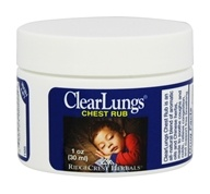 Ridgecrest Herbals - ClearLungs Chest Rub - 1 oz., from category: Personal Care