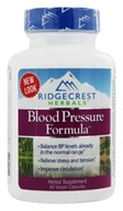 Ridgecrest Herbals - Blood Pressure Formula - 60 Vegetarian Capsules, from category: Nutritional Supplements