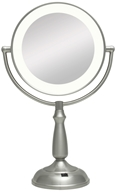 Zadro - Super Bright LED Lighted Vanity Mirror LEDVPR410 Satin Nickel by Zadro