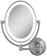 Zadro - LED Lighted Oval Wall Mirror LEDOVLW410 Satin Nickel