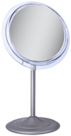 Image of Zadro - Surround Light 5X Vanity Mirror SA45 Satin Nickel