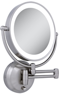 Image of Zadro - LED Lighted Round Wall Mirror LEDW410 Satin Nickel