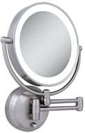 Zadro - LED Lighted Round Wall Mirror LEDW410 Satin Nickel