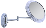 Image of Zadro - Surround Light 7X Wall Mirror SW37 Chrome