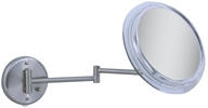 Image of Zadro - Surround Light 7X Wall Mirror SW47 Satin Nickel
