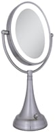 Image of Zadro - LED Lighted Oval Vanity Mirror LEDOVLV410 Satin Nickel