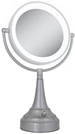 Image of Zadro - LED Lighted Round Vanity Mirror LEDSV410 Satin Nickel