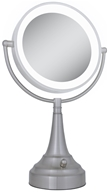 Zadro - LED Lighted Round Vanity Mirror LEDSV410 Satin Nickel