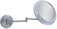 Zadro - Surround Light 5X Wall Mirror SW45 Satin Nickel by Zadro