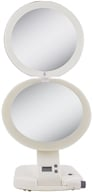 Image of Zadro - Ultimate LED Lighted 10X Make-Up Mirror ULT111 Ivory