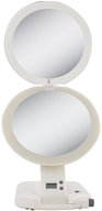 Zadro - Ultimate LED Lighted 10X Make-Up Mirror ULT111 Ivory by Zadro