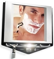 Zadro - Z'Fogless LED Lighted Fogless Mirror Z700SS Black and Silver, from category: Health Aids