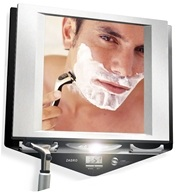 Zadro - Z'Fogless LED Lighted Fogless Mirror Z700SS Black and Silver by Zadro