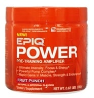 EPIQ - Power Pre-Training Amplifier Fruit Punch 40 Servings - 280 Grams by EPIQ