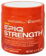 EPIQ - Strength Concentrated Creatine Formula Fruit Punch 60 Servings - 90 Grams, from category: Sports Nutrition