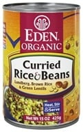 Eden Foods - Organic Curried Rice and Beans - 15 oz.