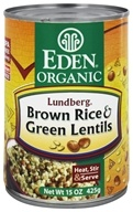 Eden Foods - Organic Lundberg Brown Rice and Green Lentils - 15 oz.