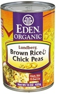 Image of Eden Foods - Organic Lundberg Brown Rice and Chick Peas - 15 oz.