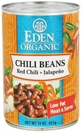 Eden Foods - Chili Beans Organic Red Chili and Jalapeno - 15 oz., from category: Health Foods