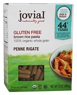 Jovial Foods - Organic Gluten-Free Penne Rigate Brown Rice Pasta - 12 oz.