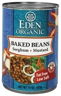 Eden Foods - Organic Baked Beans with Sorghum and Mustard - 15 oz., from category: Health Foods