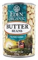 Eden Foods - Organic Butter Beans - 15 oz., from category: Health Foods