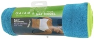 Image of Gaiam - Thirsty Yoga Mat Towel Blue Teal