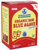 Image of Wholesome Sweeteners - Organic Raw Blue Agave - 35 Packet(s)