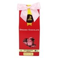 Sjaak's Organic Chocolate -  Dark Hearts Tote 12 Dark Chocolate Solid Hearts - 6 oz.