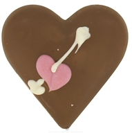 Sjaak's Organic Chocolate - Solid Vegan Milk Chocolate Small Heart - 2 oz.