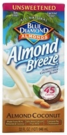 Blue Diamond Growers - Breeze Almond Milk Unsweetened Almond Coconut - 32 oz. - $2.79