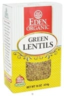 Eden Foods - Organic Dry Green Lentils - 16 oz. by Eden Foods