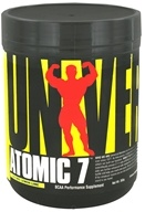 Image of Universal Nutrition - Atomic 7 BCAA Performance 'Lectric Lemon Lime 30 Servings - 393 Grams