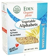 Eden Foods - Organic Pasta Vegetable Alphabets - 16 oz., from category: Health Foods