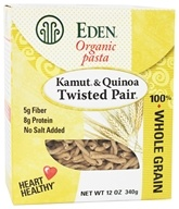 Eden Foods - Organic Pasta Kamut and Quinoa Twisted Pair - 12 oz., from category: Health Foods