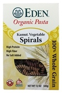 Eden Foods - Organic Pasta Kamut Vegetable Spirals - 12 oz. - $4.06
