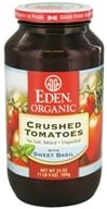 Eden Foods - Organic Crushed Roma Tomatoes with Sweet Basil - 25 oz. (024182011197)