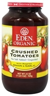 Eden Foods - Organic Crushed Roma Tomatoes with Roasted Onion and Garlic - 25 oz. (024182011081)