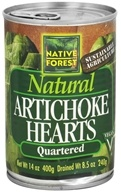 Native Forest - Artichoke Hearts Quartered - 14 oz.