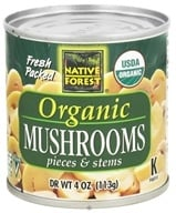 Image of Native Forest - White Mushrooms Organic Pieces & Stems - 4 oz.