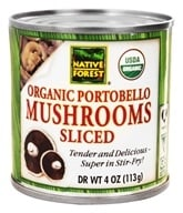 Image of Native Forest - Portobello Mushrooms Sliced Organic - 4 oz.