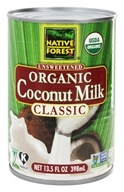 Native Forest - Coconut Milk Classic Organic Unsweetened - 13.5 oz. by Native Forest
