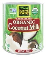 Native Forest - Coconut Milk Classic Organic Unsweetened - 3 qt.