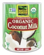 Native Forest - Coconut Milk Classic Organic Unsweetened - 3 qt. by Native Forest
