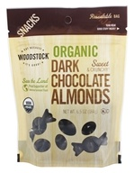 Image of Woodstock Farms - Organic Dark Chocolate Almonds - 6.5 oz.